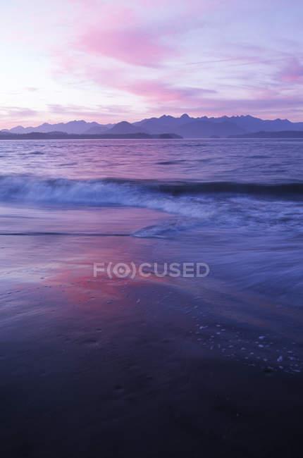 Walinselküste in der Abenddämmerung, clayoquot sound, vancouver island, britisch columbia, canada. — Stockfoto