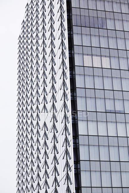 Rows of open windows on Manitoba Hydro office tower in Winnipeg, Manitoba, Canada. — Stock Photo