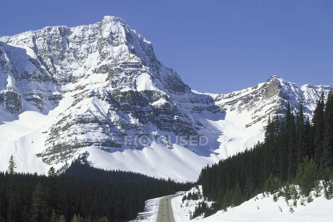 Rocky Mountains north to Jasper National Park, Icefields Parkway, Alberta, Canada. — Stock Photo