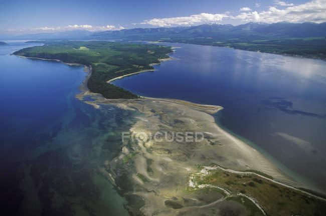 Вид з острова Денман, Британська Колумбія, Канада. — стокове фото