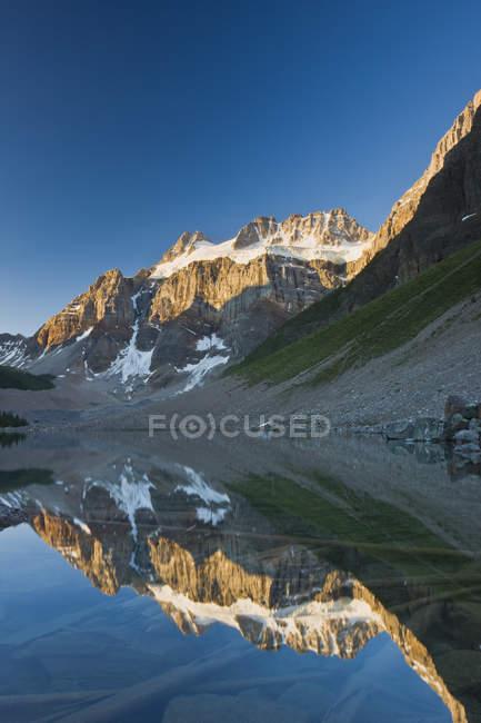 Mount Fay reflecting in Lower Consolation Lake, Banff National Park, Alberta, Canada — Stock Photo