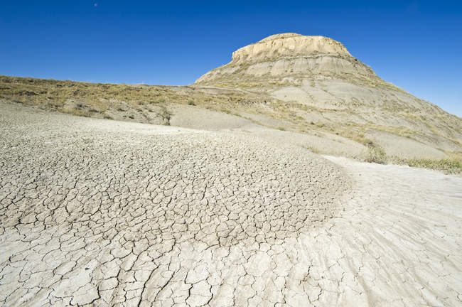 Paysage rocheux ensoleillé, parc national des Prairies — Photo de stock