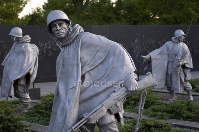 Меморіал ветеранів корейської війни, Вашингтон, округ Колумбія, США — стокове фото