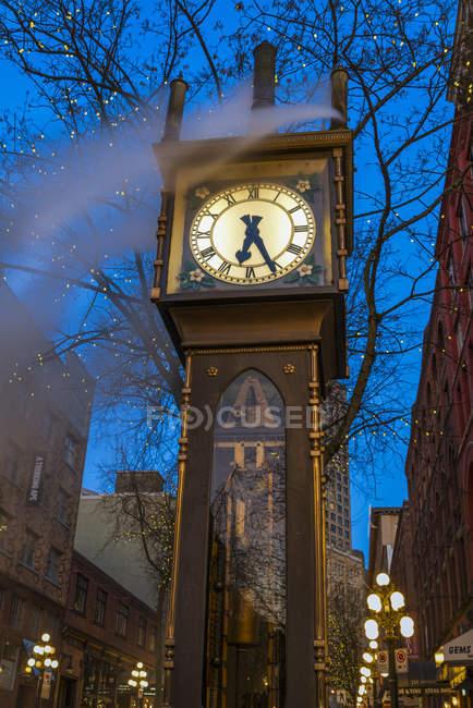 Reloj de vapor hito en Gastown, Vancouver, Columbia Británica, Canadá - foto de stock
