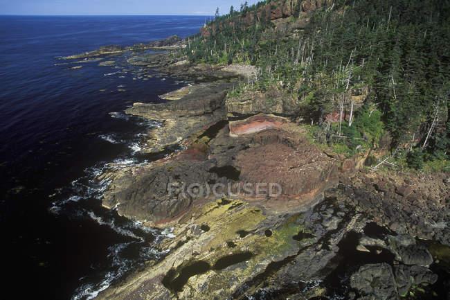 Аэрофотоснимок Haida Gwaii архипелага, Британская Колумбия, Канада. — стоковое фото
