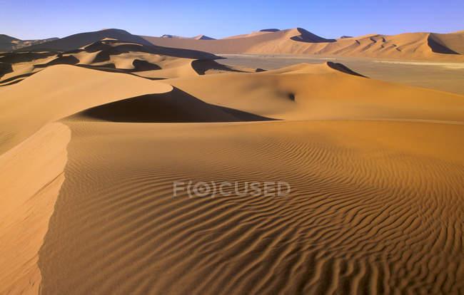 Soussusvlei dunas do deserto da Namíbia, África do Sul — Fotografia de Stock