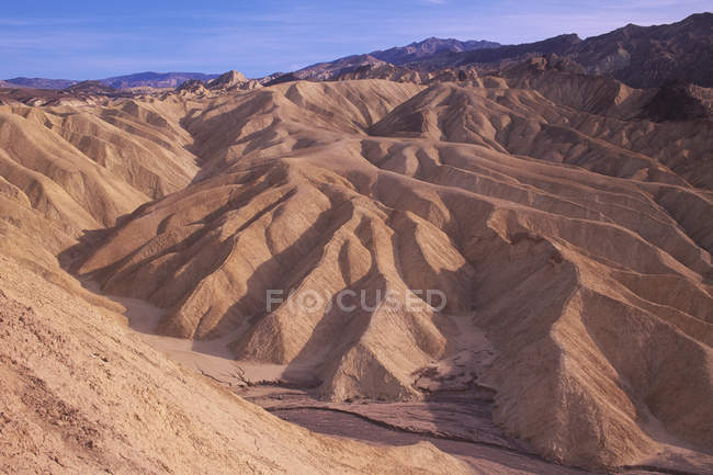 Zabriske Point erosion pattern in sandstone, Death Valley National Monument, California, USA — Stock Photo