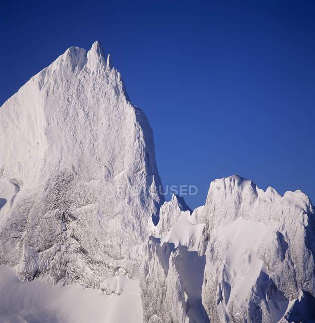 Aerial view of Black Tusk peak in mountains of Garibaldi Provincial Park, British Columbia, Canada. — Stock Photo
