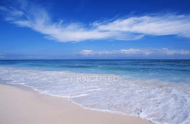 Tropical beach at Tulum, Quintana Roo, Yucatan Peninsula, Mexico — Stock Photo