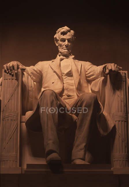 Lincoln Monument au parc memorial à Washington, Dc, é.-u. — Photo de stock
