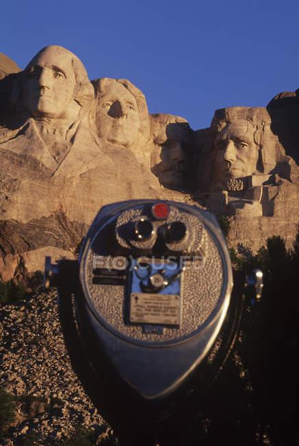 Vista panoramica sul Monte Rushmore punto di riferimento nel Dakota del Sud, Stati Uniti — Foto stock