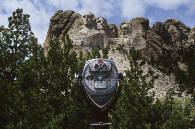 ViewScope com vista para o Monte Rushmore Marco na Dakota do Sul, Estados Unidos da América — Fotografia de Stock