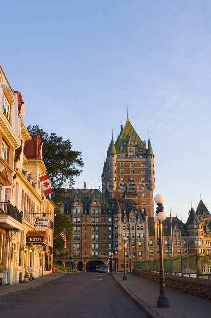 Chateau Frontenac in cityscape of Quebec City, Canada. — Stock Photo