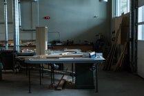 Interior of empty workshop — Stock Photo