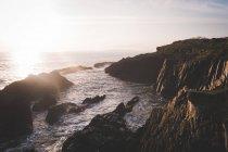 Beau coucher de soleil sur la mer — Photo de stock
