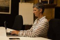 Reife Geschäftsfrau mit Laptop am Schreibtisch im Büro — Stockfoto