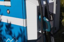 Close-up of electric charging point at charging station — Stock Photo