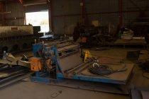 Metal scrap in the scrapyard building — Stock Photo