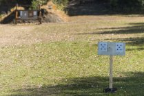 Targets for a shooting range on a sunny day — Stock Photo
