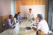 Business people having discussions in the meeting at office — Stock Photo