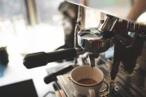 Close-up of coffee machine in food truck — Stock Photo