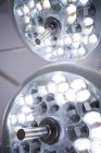 Close-up of surgical lights in operation theater at hospital — Stock Photo