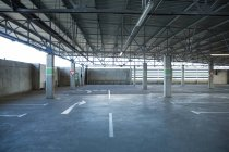 Empty car parking area at airport — Stock Photo