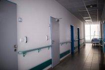 Interior view of empty hospital corridor — Stock Photo