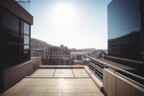 Balcony of a modern office building — Stock Photo