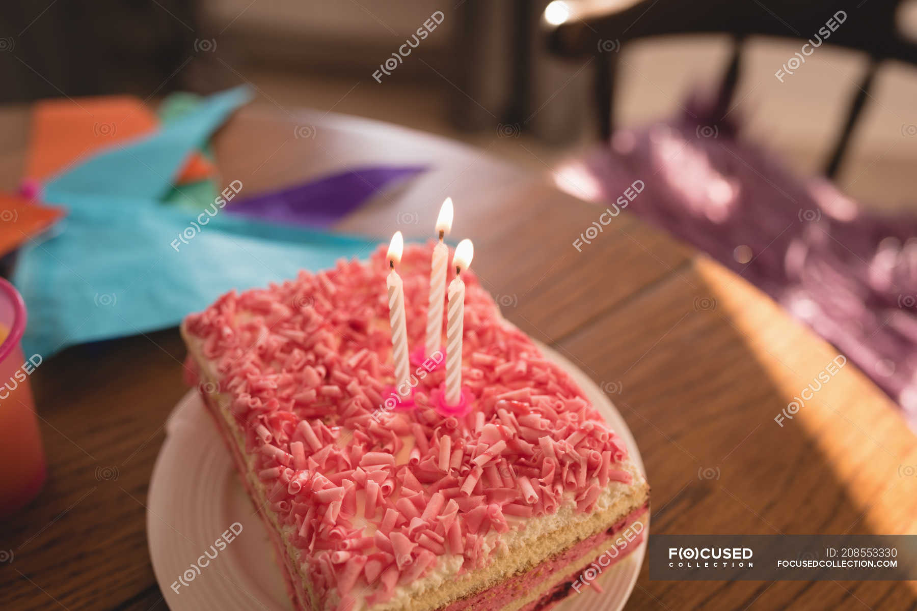 Remarkable Close Up Of Birthday Cake With Candles At Home Sweet Food Birthday Cards Printable Trancafe Filternl