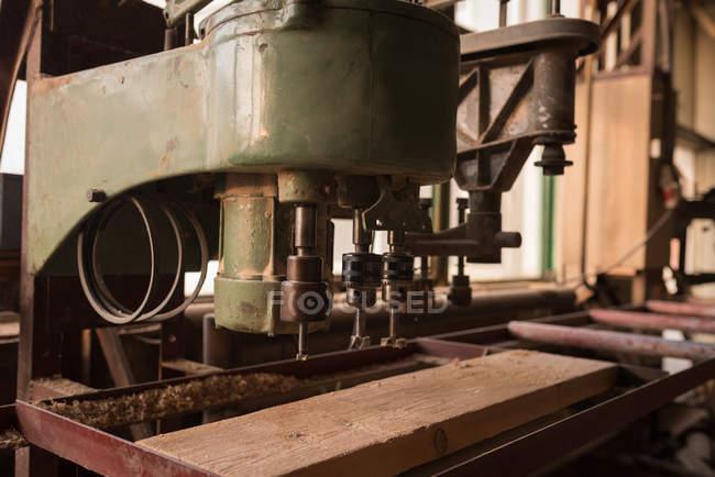 Vintage machine in carpenter workshop — Stock Photo