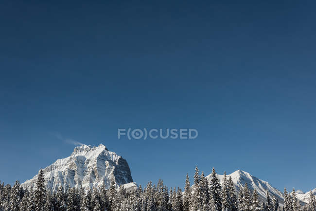 Beautiful snow covered mountain during winter — Stock Photo