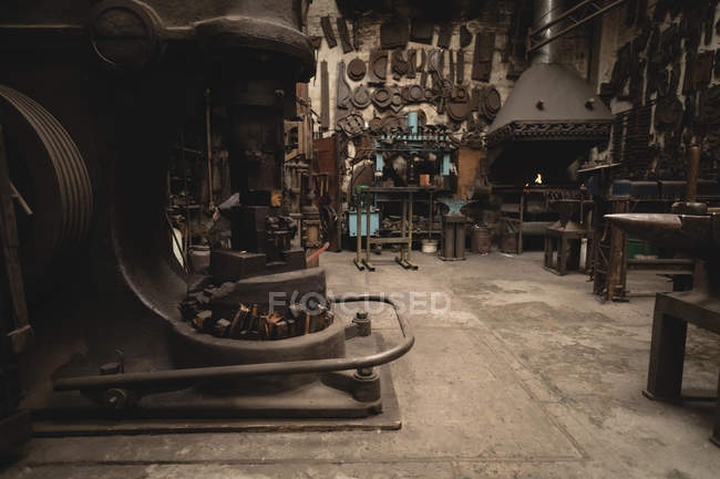 Various machine and tools in workshop — Stock Photo