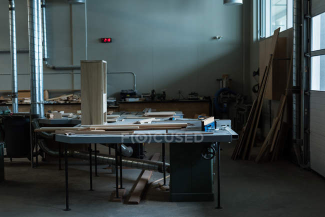 Interior of empty workshop — Stock Photo