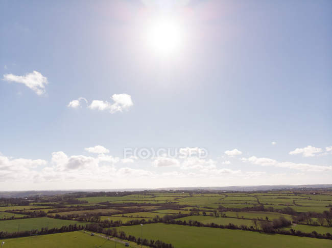 Vast green landscape on a sunny day — Stock Photo