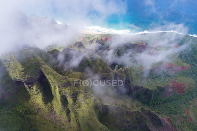 Berg in Na Pali Coast State Park — Stockfoto