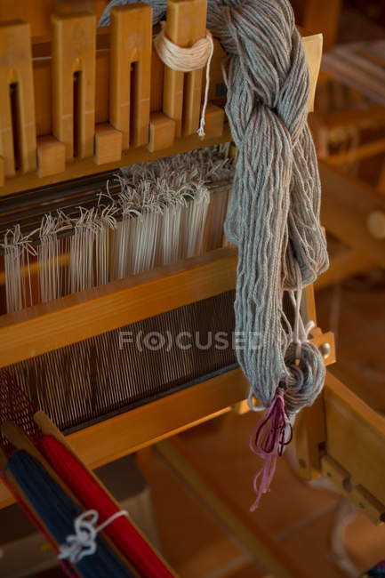 Close-up of silk thread in shop — Stock Photo