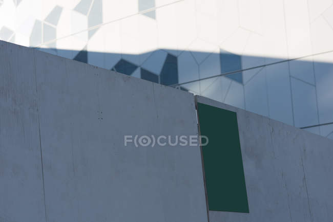 Close-up of blank board at street side — Stock Photo