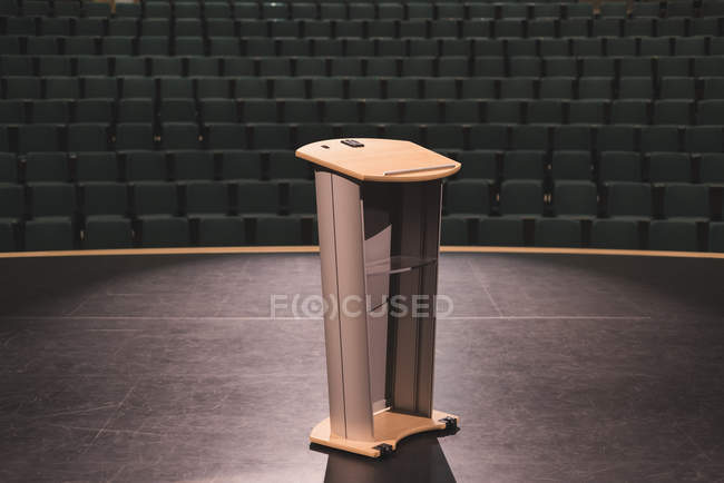 Empty podium in stage at theater. — Stock Photo