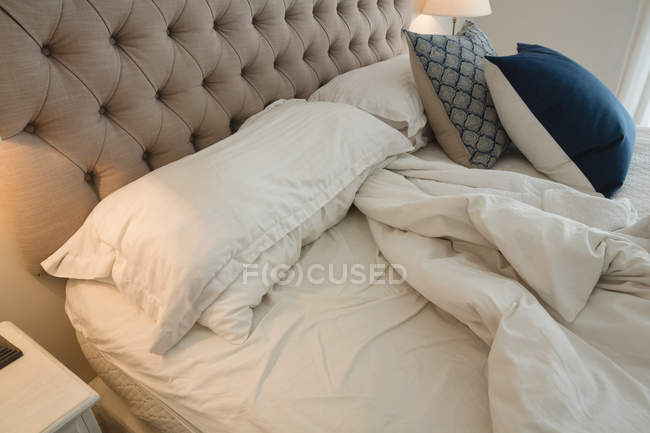 Close-up of bedroom at home — Stock Photo