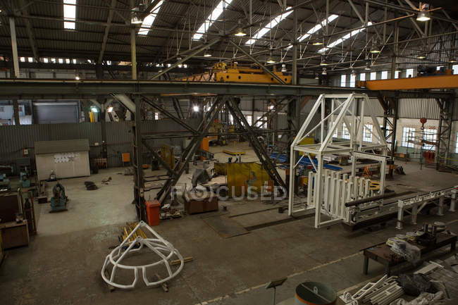 High angle view of interior of workshop — Stock Photo