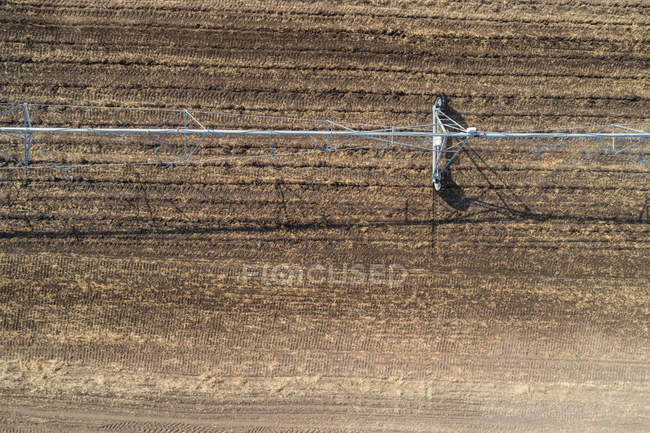 Aerial view of irrigation system in field — Stock Photo