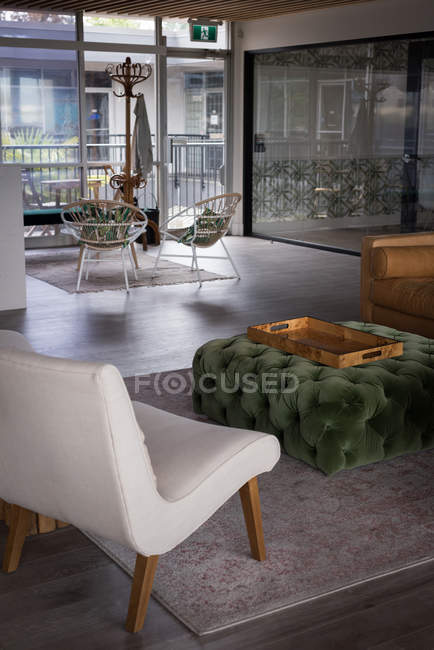 Interior of modern waiting area in office — Stock Photo