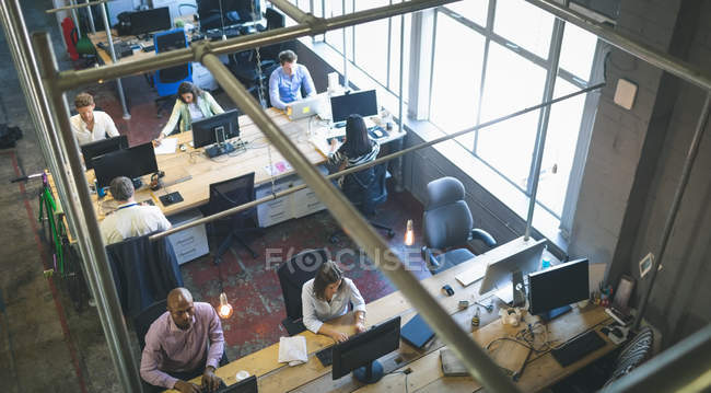 Business people working together in office — Stock Photo