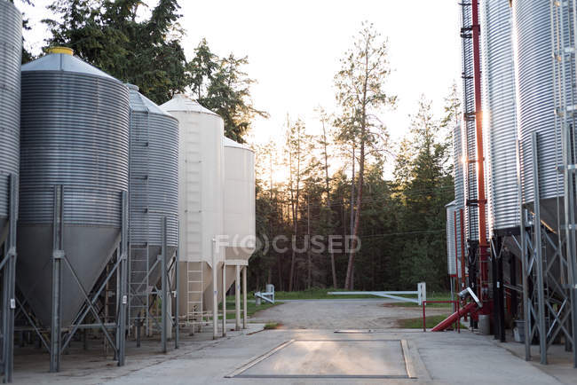 Bio fuel plant at bio gas station on a sunny day — Stock Photo