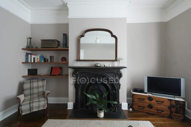 Moderne Einrichtung des Wohnzimmers zu Hause — Stockfoto