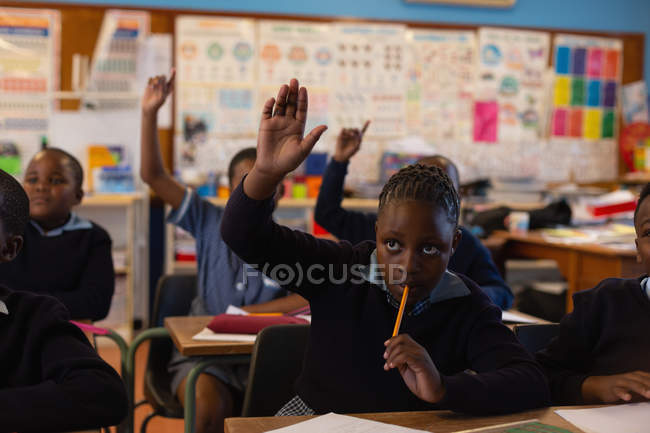 Students studying in the classroom at school — Stock Photo