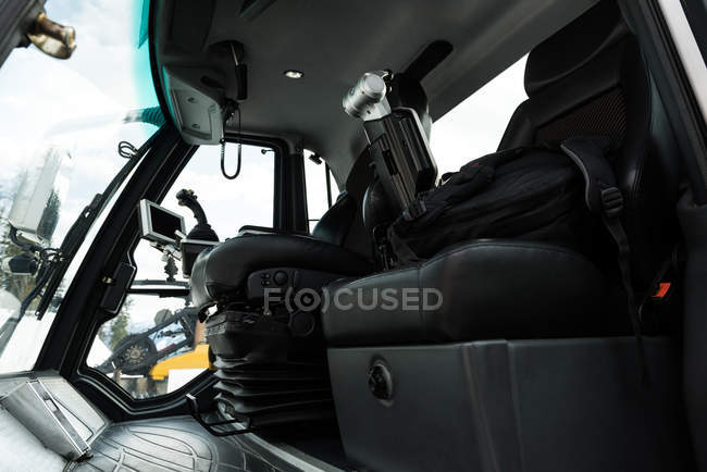 Interior of modern snowplow truck — Stock Photo