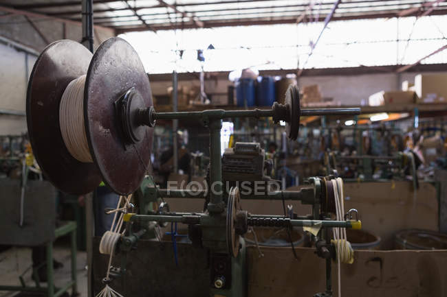 Close-up of loop machine in rope making industry — Stock Photo