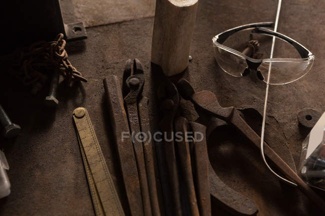 Various tools in factory — Stock Photo